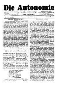 06. Jahrgang 1891 Die Autonomie London