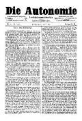 06. Jg. Nr. 116 / 10.01.1891 Die Autonomie London