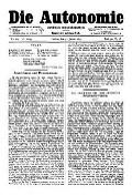 06. Jg. Nr. 119 / 31.01.1891 Die Autonomie London