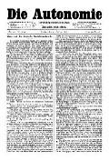 06. Jg. Nr. 122 / 21.02.1891 Die Autonomie London
