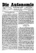 06. Jg. Nr. 123 / 28.02.1891 Die Autonomie London
