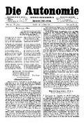 06. Jg. Nr. 124 / 07.03.1891 Die Autonomie London