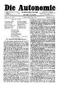 06. Jg. Nr. 125 / 14.03.1891 Die Autonomie London