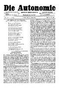 06. Jg. Nr. 126 / 21.03.1891 Die Autonomie London