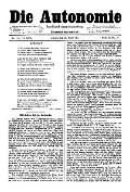 06. Jg. Nr. 127 / 28.03.1891 Die Autonomie London