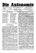 06. Jg. Nr. 131 / 25.04.1891 Die Autonomie London
