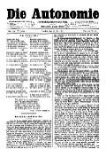 06. Jg. Nr. 134 / 16.05.1891 Die Autonomie London