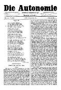 06. Jg. Nr. 135 / 23.05.1891 Die Autonomie London