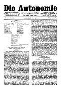 06. Jg. Nr. 137 / 06.06.1891 Die Autonomie London