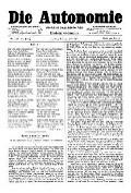 06. Jg. Nr. 138 / 13.06.1891 Die Autonomie London
