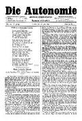 06. Jg. Nr. 139 / 20.06.1891 Die Autonomie London