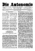06. Jg. Nr. 140 / 27.06.1891 Die Autonomie London