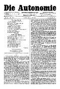 06. Jg. Nr. 142 / 11.07.1891 Die Autonomie London