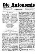 06. Jg. Nr. 144 / 25.07.1891 Die Autonomie London