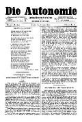 06. Jg. Nr. 146 / 08.08.1891 Die Autonomie London