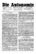 06. Jg. Nr. 147 / 15.08.1891 Die Autonomie London