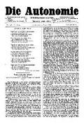 06. Jg. Nr. 148 / 22.08.1891 Die Autonomie London