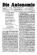 06. Jg. Nr. 149 / 29.08.1891 Die Autonomie London