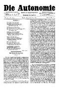 06. Jg. Nr. 150 / 05.09.1891 Die Autonomie London