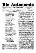 06. Jg. Nr. 151 / 12.09.1891 Die Autonomie London