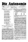 06. Jg. Nr. 154 / 03.10.1891 Die Autonomie London