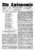 06. Jg. Nr. 155 / 10.10.1891 Die Autonomie London