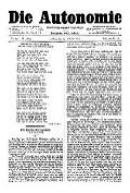 06. Jg. Nr. 157 / 24.10.1891 Die Autonomie London