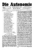 06. Jg. Nr. 158 / 31.10.1891 Die Autonomie London
