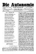 06. Jg. Nr. 159 / 07.11.1891 Die Autonomie London