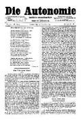 06. Jg. Nr. 160 / 14.11.1891 Die Autonomie London