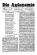 06. Jg. Nr. 161 / 21.11.1891 Die Autonomie London