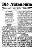 06. Jg. Nr. 162 / 28.11.1891 Die Autonomie London
