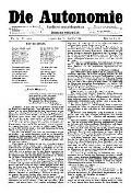 06. Jg. Nr. 165 / 19.12.1891 Die Autonomie London