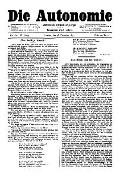 06. Jg. Nr. 166 / 26.12.1891 Die Autonomie London