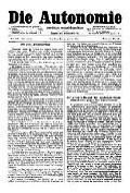 07. Jg. Nr. 168 / 09.01.1892 Die Autonomie London