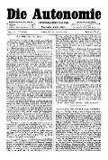 07. Jg. Nr. 174 / 20.02.1892 Die Autonomie London