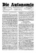 07. Jg. Nr. 175 / 27.02.1892 Die Autonomie London