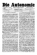 07. Jg. Nr. 177 / 12.03.1892 Die Autonomie London