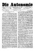 07. Jg. Nr. 181 / 09.04.1892 Die Autonomie London
