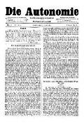 07. Jg. Nr. 167 / 02.01.1892 Die Autonomie London