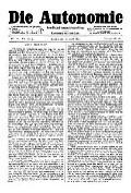 07. Jg. Nr. 183 / 30.04.1892 Die Autonomie London