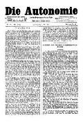 07. Jg. Nr. 184 / 07.05.1892 Die Autonomie London