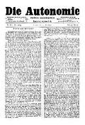 07. Jg. Nr. 185 / 14.05.1892 Die Autonomie London
