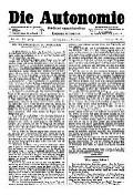 07. Jg. Nr. 186 / 21.05.1892 Die Autonomie London
