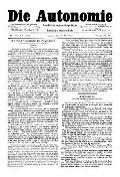 07. Jg. Nr. 187 / 28.05.1892 Die Autonomie London