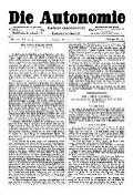 07. Jg. Nr. 189 / 11.06.1892 Die Autonomie London