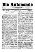 07. Jg. Nr. 193 / 09.07.1892 Die Autonomie London