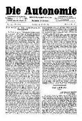 07. Jg. Nr. 194 / 16.07.1892 Die Autonomie London