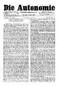 07. Jg. Nr. 195 / 23.07.1892 Die Autonomie London
