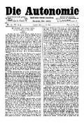 07. Jg. Nr. 196 / 30.07.1892 Die Autonomie London